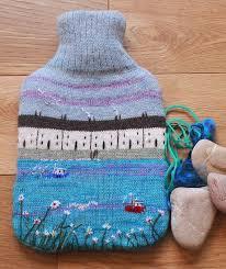 Best 25+ Hot water bottles ideas on Pinterest | Water bottle ... & Knitted hot water bottle cover with seaside design, including bottle Adamdwight.com