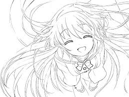 Anime Printable Coloring Pages Anime Princess Coloring Pages