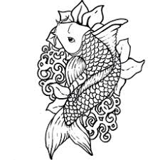 koi fish coloring page