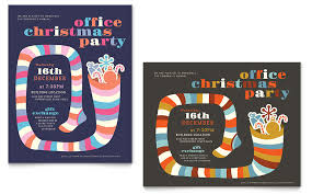 office party flyer christmas party poster template word publisher