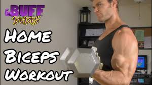home workout routine arms biceps dumbbell exercises