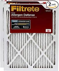 Filtrete 16x25x1 Ac Furnace Air Filter Mpr 1000 Micro Allergen Defense 2 Pack