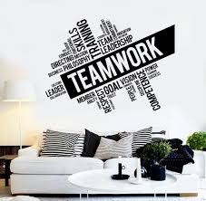 office wall decor. Nice Looking Wall Decorations For Office In Teamwork Vinyl Decal Word Cloud Success Decor