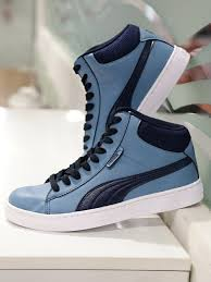 puma 1948. buy puma men blue 1948 mid idp sneakers - casual shoes for | myntra