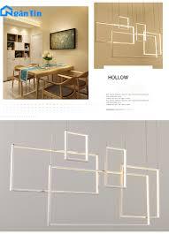 Đèn thả trần led tích hợp trang trí phòng khách bàn ăn Led 3 chế độ màu  TH825 Ngân Tin (Tặng kèm remote điều khiển từ xa ) -