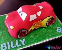 3d Lightening Mcqueen Car Cake Hedgehog Lanethemed Party Decor