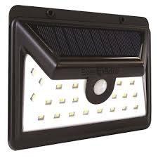 Ever Brite Lights Reviews Ever Brite Black Motion Activated Outdoor Integrated Led Area Light With 24 White Solar Light
