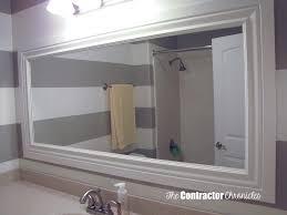 Adhesive Bathroom Mirror Frame A Bathroom Mirror The Contractor Chronicles