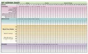 Asthma Symptom Chart Asthma School Nursing 101