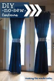 Diy No Sew Curtains Diy No Sew Curtains