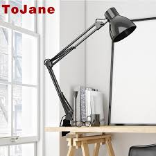 tojane tg801 long swing arm desk lamp led table lamp office led reading light home lampe