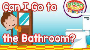Can I Go To The Bathroom Classroom English Song Bingo Bongo Esl Efl Youtube