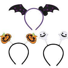 3 Pieces Lovely <b>Halloween</b> Headbands Bat Wings <b>Pattern</b> Hairband ...