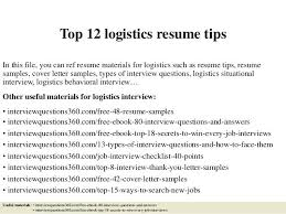 Logistics Resumes Logistics Resume Sample Sample Cover Logistics Resumes Download By 62