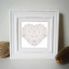 shabby chic white painted frame with folk art print glyn west design rh glynwestdesign co uk white shabby chic photo frames white shabby chic multi