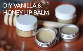 diy vanilla and honey lip balm