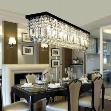 rectangular crystal chandelier with black shade
