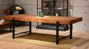 industrial furniture table. Industrial \u0026 Wood Modern Rustic Dining Table Industrial-dining-room Furniture D