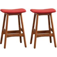mid century modern bar stools. Mid-Century Modern Bar Stools In Red (pair) Mid Century S