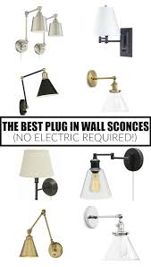 12 of the best plug in wall sconces no