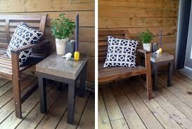 diy patio diy concrete side table width