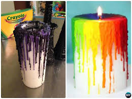 DIY Halloween Witch Crayon Drip Candle Craft Projects with Instruction