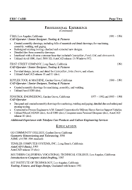general engineer resume mechanical engineer resume example