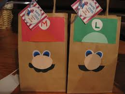 mario and luigi treat bags i bought plain bags using diffe colored construction paper