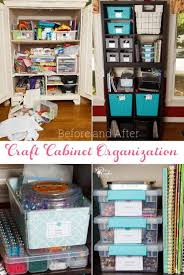 great small space craft organization and storage ideas diy ideas for using a cabinet to