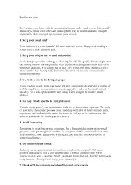 Cover Letter Format For Email Cover Letter Cover Letter Format For