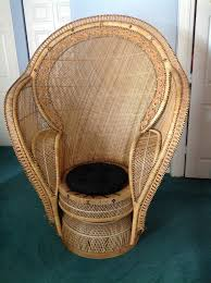 wicker chair vintage large pea chair