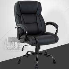 high back big and tall office chair ergonomic pu desk task executive chair rolling swivel chair adjustable computer chair with lumbar support headrest