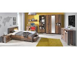 Jugendzimmer Cedric 61 Vintage Braun 7 Teilig Schlafzimmer Bett Nako