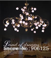 creative large font b chandelier b font light lighting rural style cherry flower font b chandelier