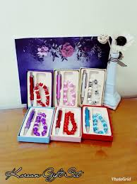 korean gift set color and design may vary