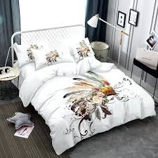 white comforter cover bedding set pink rose tribal style feather duvet 4 sizes ikea