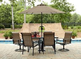 sophisticated brown standing umbrella and stunning kmart patio with kmart outdoor storage