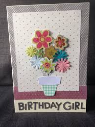 Homemade Greeting Card Design Birthday Card Using Simple Flower Toppers Of Different