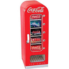 Soda Can Vending Machine Mesmerizing Amazon Coke Retro Vending Machine Mini Fridge Red Coca Cola 48