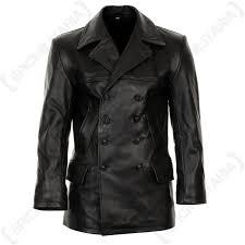 german black leather u boat jacket main