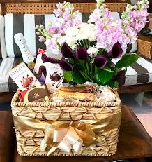 luxury chagne chocolate flower basket