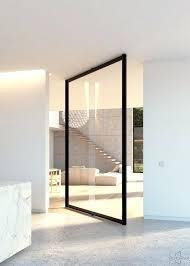 glass pivot door steel look glass pivot door with central axis pivoting hinge dorma glass door