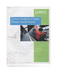yolanda martin gsu critical analysis of ralph ellison s battle royal  critical analysis of ralph ellison s battle royal