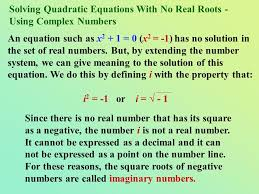 10 solving quadratic equations with no real roots using complex numbers