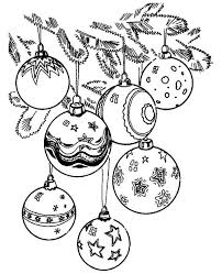 Ornaments Coloring Pages Christmas Decorations Free