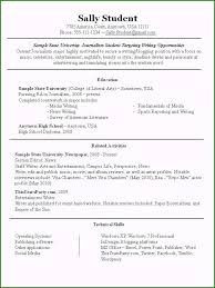 Wonderful Sample Resume For Part Time Job For Your