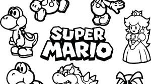 Mario Coloring Page Roomhiinfo