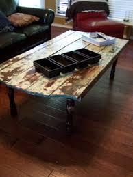 repurposed door coffee table