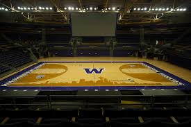 Uw Adds Seattle Skyline Design To Hec Ed Basketball Court