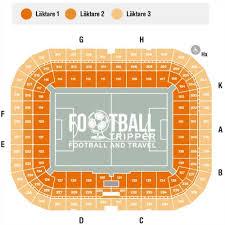 Stockholm Globe Arena Seating Chart Friends Arena Stadium Aik Fotboll Football Tripper